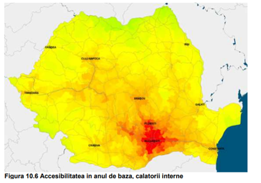 harta accesibilitate rutiera Romania