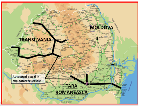 Transport rutier |autostrazi in executie Romania|